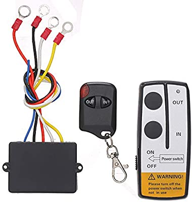 Wireless Electric Winch 12V Volt DC Remote Control Keyring For Truck Jeep ATV