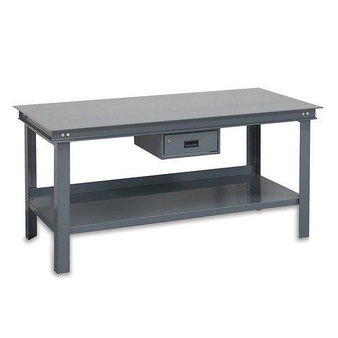 Durham Steel Super Heavy Duty Workbench with Drawer, HWB-3672-177D-95,  14000 lbs Capacity,  36'' Length x 72'' Width x 34'' Height