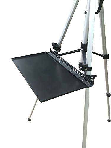 Do4U Painting Easel Stand Replacement Easel Tray, Artist Aluminum Replacement Easel Tray (Black Tray)
