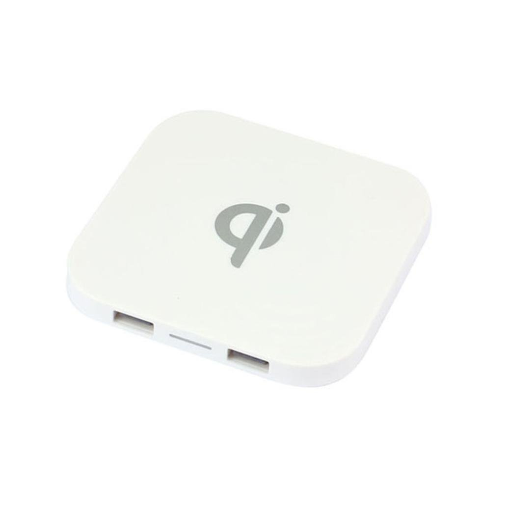 Dreamyth Durable Portable Mini Qi Safe Wireless Charger Charging Pad Dual-USB For Iphone8//8 Plus//X