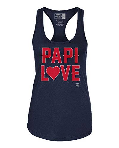 Fresh Brewed Tees MLB Boston Red Sox David Ortiz Women's Papi Love Tank Top, X-Large, Midnight Navy (Tank Mlb Top Red)