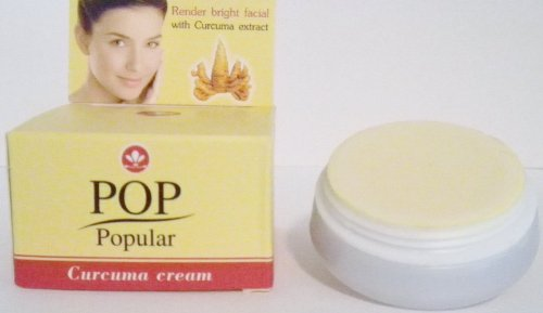Pop Popular Facial Cream with Curcuma Extract Lighten Melasma, Freckle, Dark Spot 4g. (Pack 3)