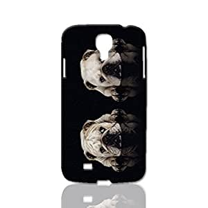 Two-Bulldog Pattern Image - Protective 3d Rough Case Cover - Hard Plastic 3D Case - For Samsung Galaxy S4 i9500