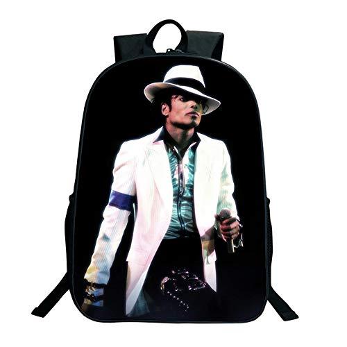 SJYMKYC Michael Jackson Bad Backpack Charging Backpack Men and Women Backpack Travel Backpack Computer Backpack (Michael Jackson Backpack)