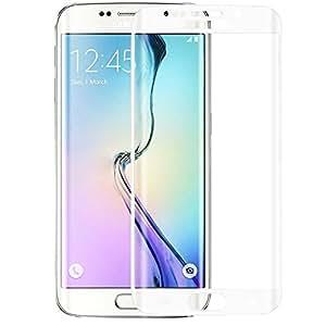 """Protector de pantalla Cristal templado para Samsung Galaxy S7 Edge """"Pantalla completa"""" BLANCO (Cubre la zona curva de la pantalla). Grosor 0,2mm con alta resistencia a impactos. Perfecto ajuste sin dejar zonas sin cubrir. No se forman burbujas"""