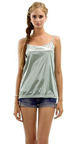 asic Satin Full Slip Top Camisole (Mint, Small) ()