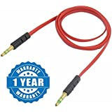 Drumstone 3.5mm Male to Male Car Auxiliary Cord for Android/iOS Devices (Color may vary)