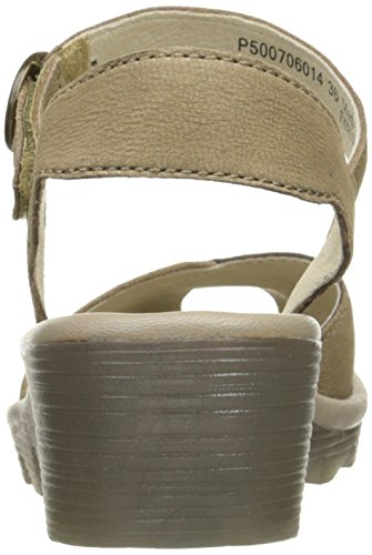 Voler Londres Femmes Pero706fly Wedge Sandale Taupe / Champignons Cupido / Mousse