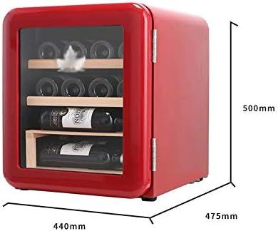 JJSFJH Vino de Refrigeración/Chiller |Mostrador Rojo y Blanco Bodega |Autosoportados Frigorífico, Funcionamiento silencioso Nevera