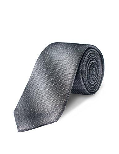- Origin Ties Tow Tone Necktie Classic College Striped Twilling Silk Tie Grey