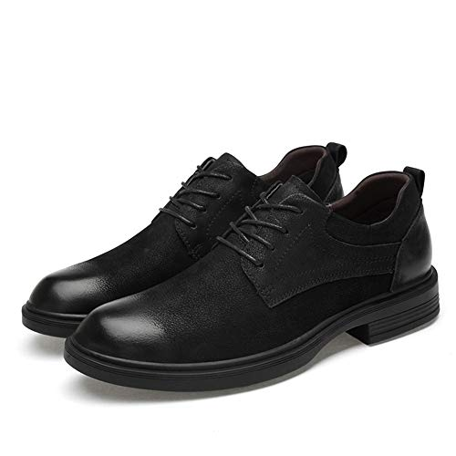 estate Grandi Suede Convenziona 2018 Fleece Stringate Oxford Black smooth Scarpe Coccodrillo Formali Motivo Confortevole Inside Uomo A Di Dimensioni Low Black Business Primavera Con Le Da Top Faux fnF4n51