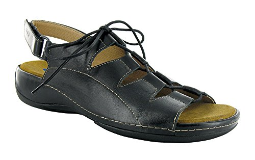 WOLKY Womens Sandals 310 Kite Black Smooth, Size-40