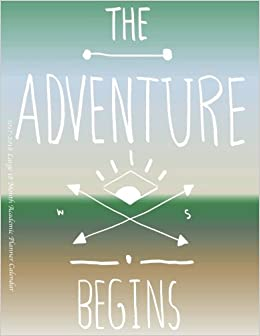the adventure begins large month academic planner