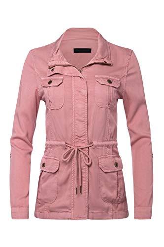 FASHION BOOMY Womens Zip Up Military Anorak Jacket W/Hood (3X_Plus, - Coats Faux Hood Juniors For Fur
