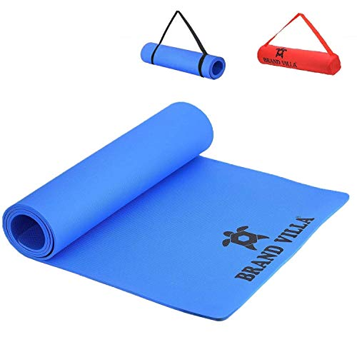 brandvilla Non Slip Yoga Mat with Shoulder Strap and Carrying Bag, High Density Yoga mats for Home, Gym & Outdoor Workout (Made in India) Price & Reviews