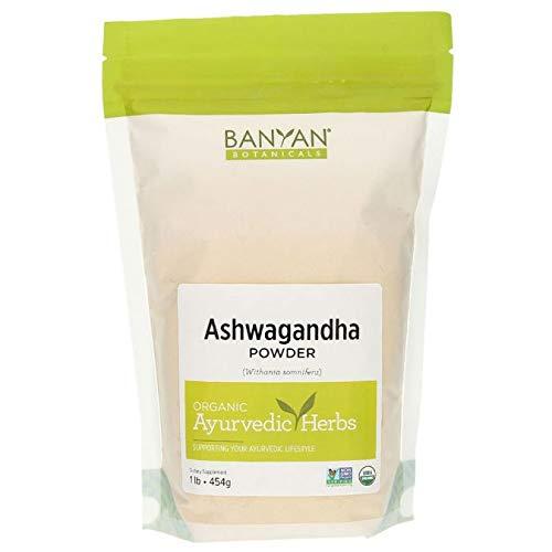 Banyan Botanicals Organic Ashwagandha Powder - 1 Pound - USDA Organic - Adaptogenic Ayurvedic Herbal Supplement That Promotes Vitality & Strength - Support for Stress-free Living