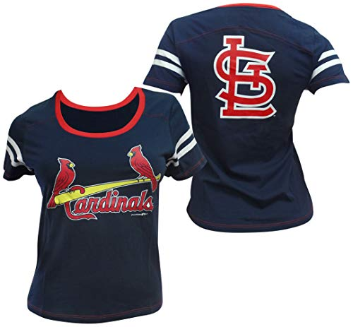 - 5th & Ocean St. Louis Cardinals Women's Baby Jersey S/S Scoop Neck Large
