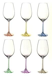 Bohemian Crystal Set Of 6 White Wine Crystal