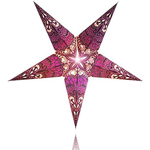Happy Sales HSSL-FSPBLA Frozen Sunset Paper Star Lantern Purple,