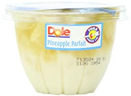 Dole Fruit Parfait, Pineapple & Creme, 7-Ounce Cups (Pack of 12)