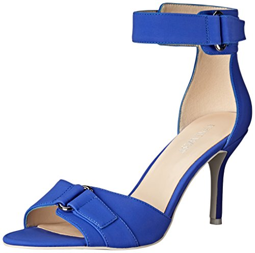 Nine West mujer sintético Gainey Heeled Sandal Blue
