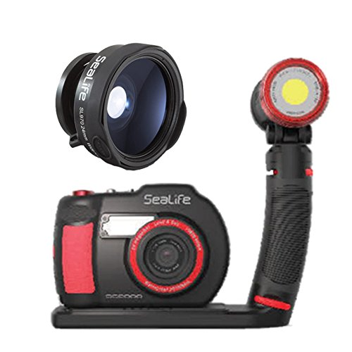 SeaLife DC2000 HD Underwater Digital Camera with Sea Dragon 2500 LED Light Set & SL970 0.65x Wide Angle Conversion Lens by SeaLife