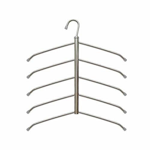 Suzeda 5 Tier Stainless Steel Blouse Tree Hanger Closet Organizer - Blouse Hanger