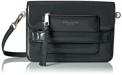 Marc Jacobs Medium Patent Madison Shoulder Bag, Dark Silver
