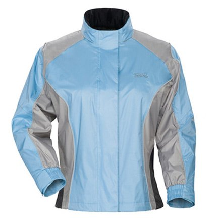 Sentinel Womens Rainsuit Jackets - Tourmaster 'Sentinel Light' Womens Blue Rainsuit Jacket - Plus Small