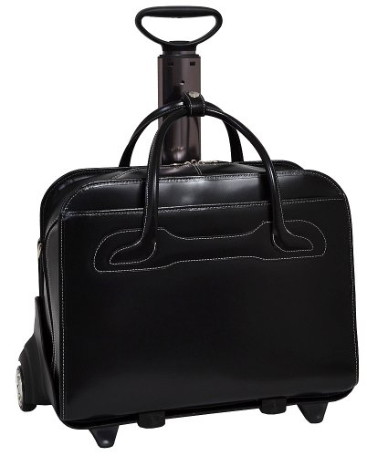 McKlein Women's Willowbrook Wheeled Laptop Case,Black,19.5""