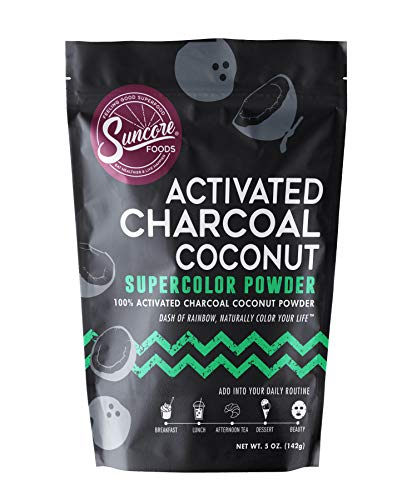 Suncore Foods - 100% Pure Activated Charcoal Coconut Natural Supercolor Powder