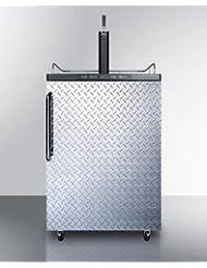 Summit SBC635MDPL Wine Dispenser, Silver With Diamond Plate