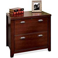 kathy ireland Home by Martin Tribeca Loft Cherry 2 Drawer Lateral File Cabinet - Fully Assembled
