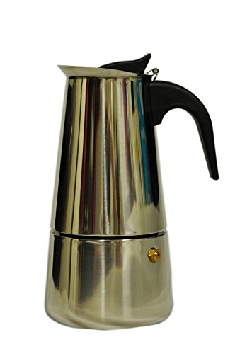 Modin Stovetop Espresso Coffee Maker Moka Pot,18/8 Stainless Steel,9-Cup Review