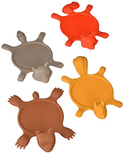 Get Smashed Silicone Animal Coasters (Set of 4) by TrueZoo ()