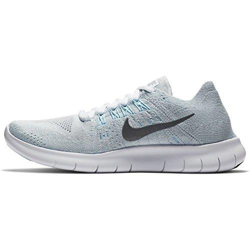 Nike Women's Free RN Flyknit 2017 Running Shoe PURE PLATINUM/METALLIC SILVER 9.5 by NIKE (Image #1)