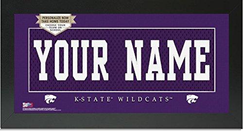 Kansas State Wildcats NCAA Custom Jersey Nameplate Framed Sign