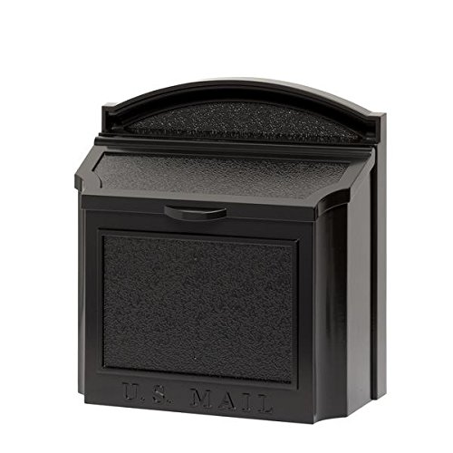 Whitehall Products 16140 Wall Mailbox, Black