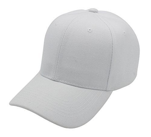- Top Level Baseball Cap Hat Men Women - Classic Adjustable Plain Blank, WHT