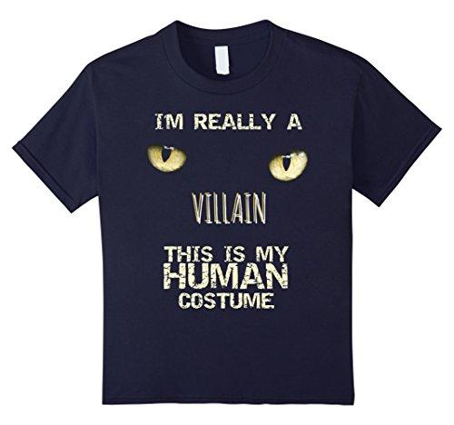 Kids I'm Really a Villain Halloween Costume Shirt 4 Navy