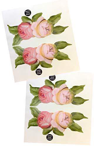 - KA Mixer Decal Cover Kit 2x Victorian Vintage Rose Flower Double Stickers Red, Pink, Cream and White, Designed to Fit all Kitchenaid Stand Mixers - Mixer Not Included