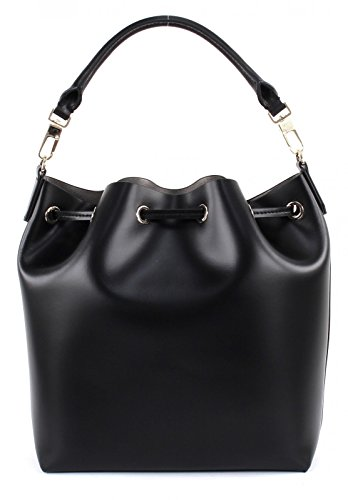 COCCINELLE Kim Chain Drawstring Bag Nero