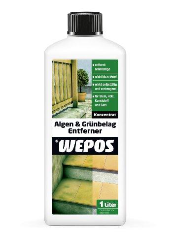 Wepos 2000100008 Algen- und Moos Entferner 1 Liter
