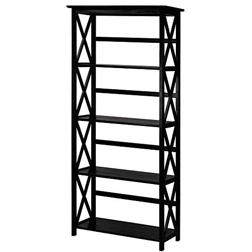 Casual Home 324-52 Montego 5-Tier Bookcase, Black