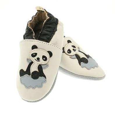 e360278503c bebeotop Chaussons en Cuir Souple Panda Ange  Amazon.fr  Chaussures ...