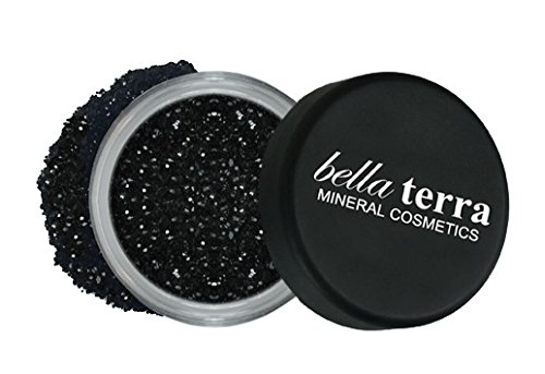 Mineral Glitter Eyeshadow Makeup Powder - Metallic Cosmetic Highlighter for Face & Nails - Pigment Dust - Natural Makeup (Black Pearl)