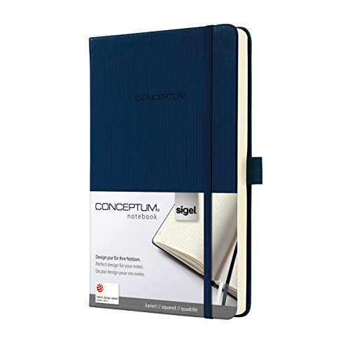 Sigel Hardcover Graph Notebook with Elastic Closure, Midn...