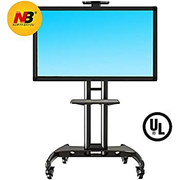 Amazon Com Mount Factory Rolling Tv Cart Mobile Tv Stand