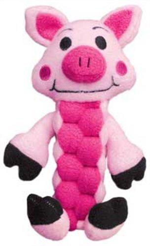 KONG Pudge Braidz Pig Dog Toy, Medium/Large, My Pet Supplies
