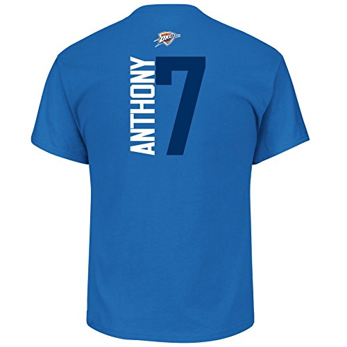 Carmelo Anthony Oklahoma City Thunder  7 Nba Mens Vertical Player T Shirt  Large